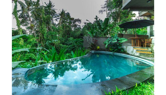 Kolam Renang Kecil di Rumah Minimalis Dengan Air Mancur